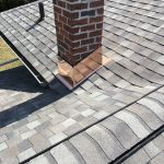 Asphalt Shingle with Copper Chimney Collar